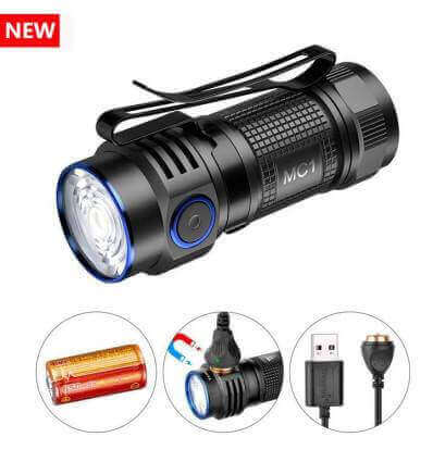 TrustFire MC1 1000lumen, 129m Throw Rechargeable EDC Flashlight