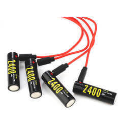 Soshine AA USB-1.5V 2400Lithium with USB cable