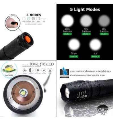 TorchSA G700 X8000 Zoom 18650 flashlight 600lumen