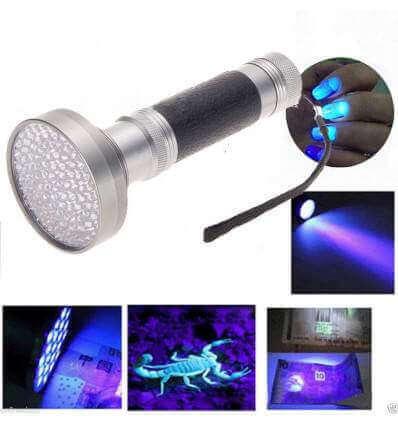 UV 100 LED Flashlight
