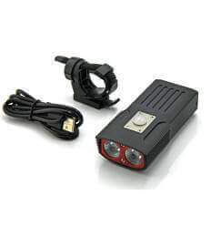 Soshine TB1 USB Rechargeable Bike Light Kit 2400 Lumens
