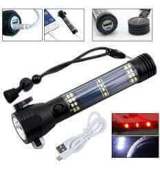 Soshine TC13 Rechargeable 200lumen Flashlight Solar