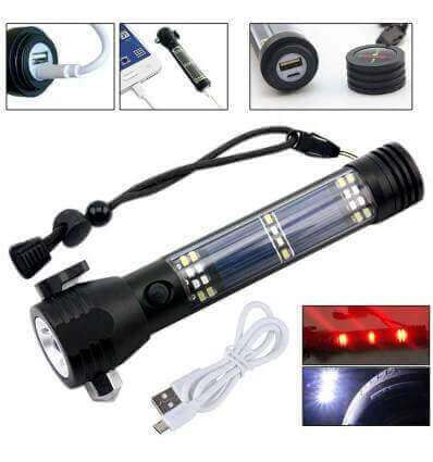 Soshine TC13 Rechargeable 200lumen Flashlight Solar