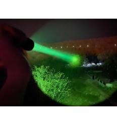 Manker MC12 Pocket Thrower Flashlight (White/Green/Red Light option) + USB Rechargeable 18650 Li-ion Battery