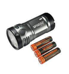 Manker MK36 12,000 Lumens 6x CREE XHP50.2 3V LED Flashlight - Batteries included