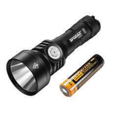 Manker U22 II 1020M Thrower 850LM OSRAM KW CSLNM1.TG LED Flashlight Use 21700 Battery (Included)