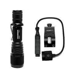 Powertac Warrior G4LT Tactical Weapon Package - 2100lm, 450m Rechargeable (Spot Light)