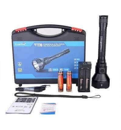 TrustFire T70 2300lumen, 1000m Throw LED Flashlight SET Rechargeable