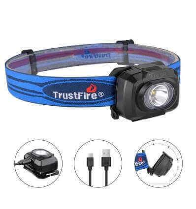 TrustFire HL3R 200lumen, 50m Rechargeable Headlamp