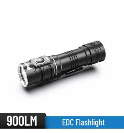 WUBEN E05 900 Lumens EDC Flashlight Rechargeable