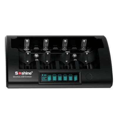 Soshine CD1 (Pro) - 4bay battery charger