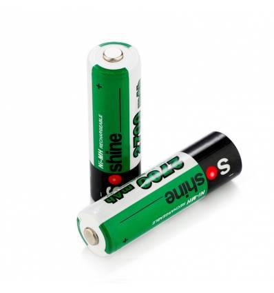 2x Soshine AA 2700mAh Ni-MH Rechargeable Batteries
